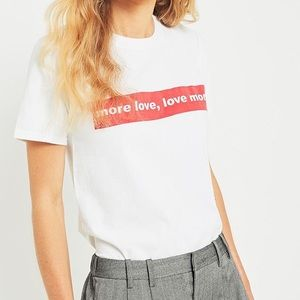Urban Outfitters More Love Tee Medium